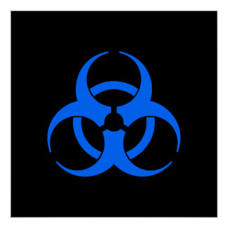 Affisch för blåttBiohazardsymbol