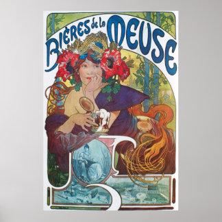 Affisch för Boeres de laMeuse art nouveau