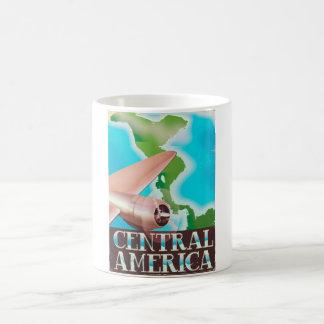 Affisch för Central America vintageflyg Kaffemugg