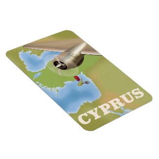 Affisch för Cypern kartavintage resor Magnet