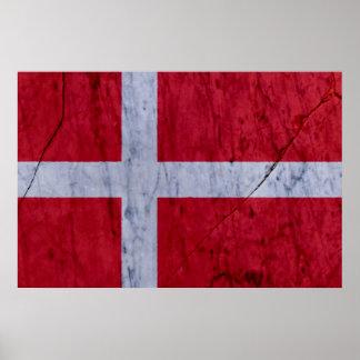 Affisch för Danmark marmorsten