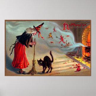 Affisch för dekor för katt för svart för