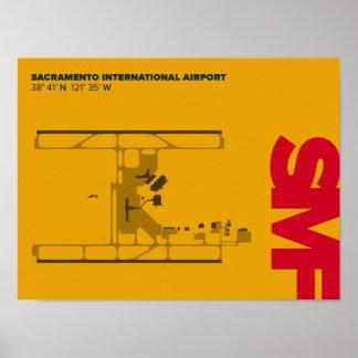 Affisch för diagram för Sacramento flygplats (SMF)