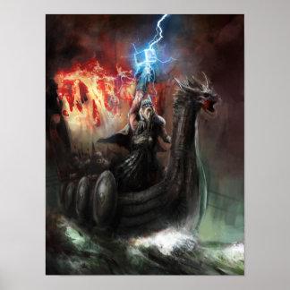 Affisch för drakeViking frakt