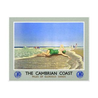 Affisch för England Cambrian kustenvintage resor Canvastryck