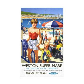 Affisch för England Weston toppen Marevintage Canvastryck