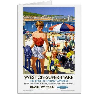Affisch för England Weston toppen Marevintage Hälsningskort