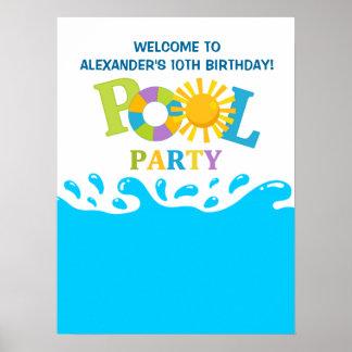 Affisch för födelsedag för pojke för party för vat poster