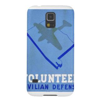 Affisch för försvar WPA för vintagevolontär civil Galaxy S5 Fodral