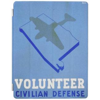 Affisch för försvar WPA för vintagevolontär civil iPad Skydd