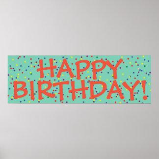 Affisch för grattis på födelsedagenpartybaner poster