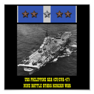 AFFISCH FÖR HAV FÖR USS FILIPPINSK (CV/CVA-47)
