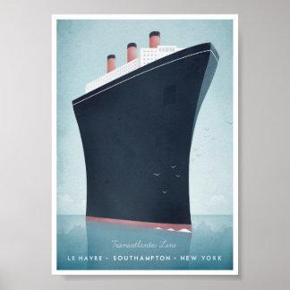 Affisch för haveyelinervintage resor poster