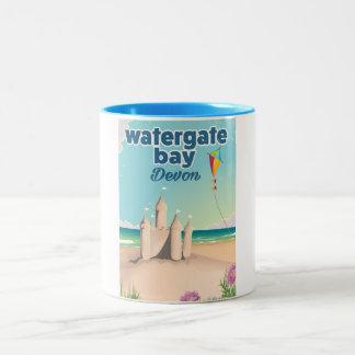 affisch för helgdag för watergate fjärddevon Två-Tonad mugg