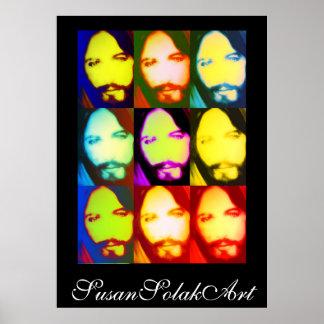 Affisch för Jesus popkonst Poster