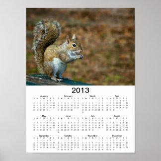 Affisch för kalender för ekorrefoto 2013 poster