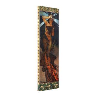 Affisch för kanfas för Alphonse Mucha morgonstjärn Canvastryck