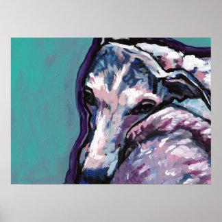 affisch för konst för pop för whippethund ljus poster