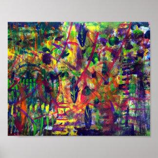 """Affisch för konst """"för sommardans"""" akryl"""