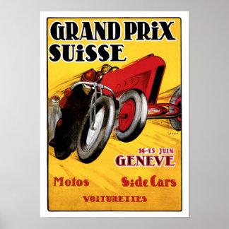 Affisch för konst för vintage för annons för grand poster