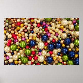 Affisch för kontor för färgrika pärlorsmycken
