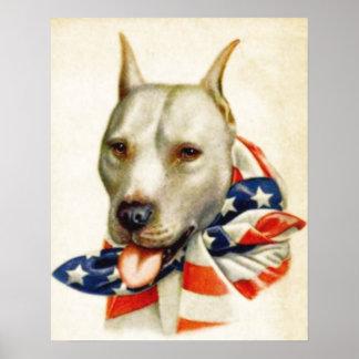 Affisch för krig för hund för tjur för grop för poster