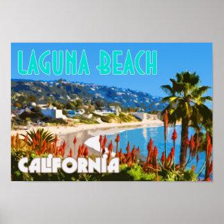Affisch för Laguna strandvintage resor