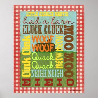 Affisch för lantgårdtunnelbanankonst - gammala Mac Poster