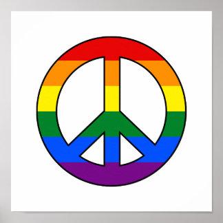 Affisch för LGBT-flaggafredstecken