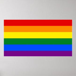 Affisch för LGBT-flaggavägg
