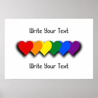 Affisch för LGBT-pridehjärtor