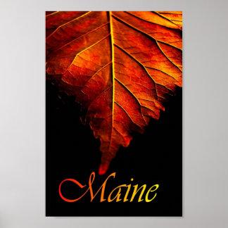 Affisch för löv för nedgång för höstlövaffisch  