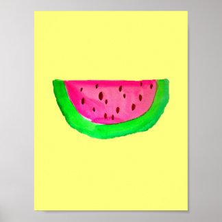 Affisch för målning för PinkWatermelon popkonst