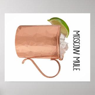 Affisch för modern konst för Moscow Mule Low Poly