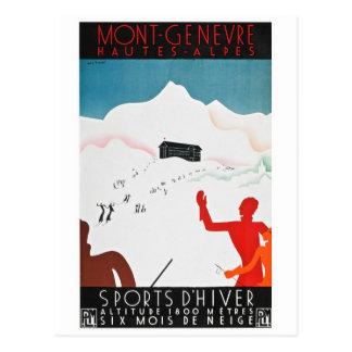 Affisch för Mont Geneva vintageturism Vykort