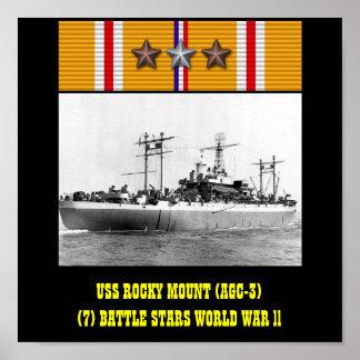 AFFISCH FÖR MONTERING FÖR USS STENIG AGC-3