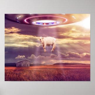"""Affisch för möte för UFO-ko""""kidnappning Poster"""
