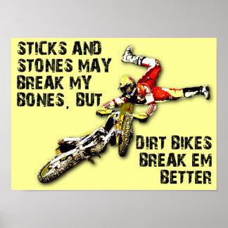 Affisch för Motocross för pinne- och