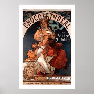 Affisch för Mucha art nouveauchoklad Poster