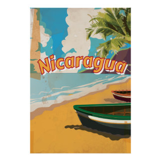 Affisch för Nicaragua vintagesemester
