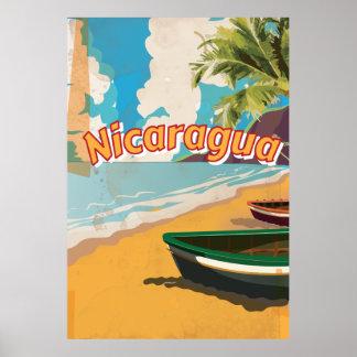 Affisch för Nicaragua vintagesemester Poster