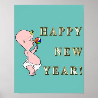 Affisch för nytt år för baby poster