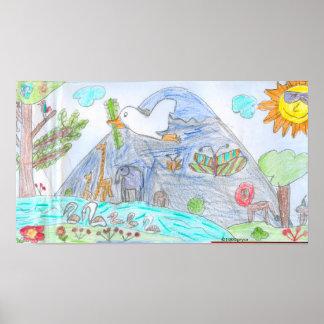 Affisch för paradisungekonst av Pryor