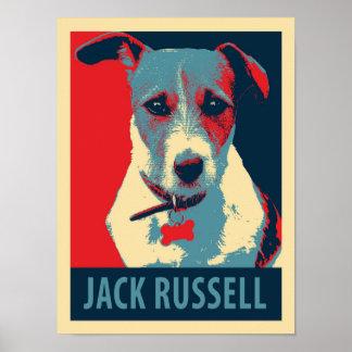Affisch för parodi för jackRussel Terrier politisk Poster
