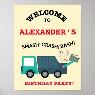 Affisch för party för välkomnande för födelsedag