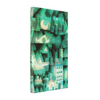 Affisch för Paul Klee dröm- stadskanfas Canvastryck