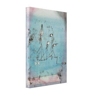 Affisch för Paul Klee Twittering maskinkanfas Canvastryck