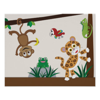 Affisch för Rainforestdjungelbarnkammare