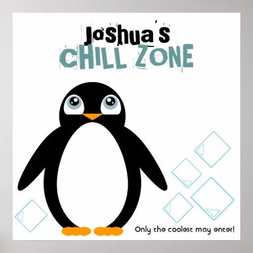affisch för rum för barn för pojkePINGVINpersonlig