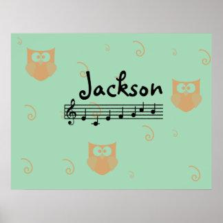 Affisch för rum för barnkammare för Jackson musika Poster